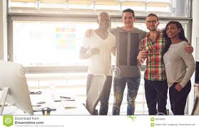 four and happy adults in office stock photo image 69340900