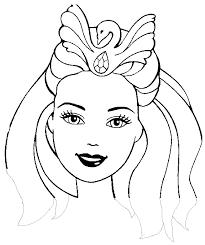masque barbie princesse découpage a imprimer