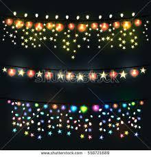 festive lights garland on black background stock vector 550721662
