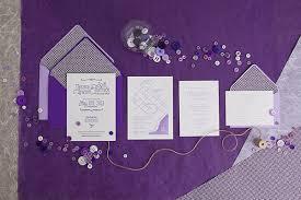 purple wedding invitations s purple ombre letterpress wedding invitations