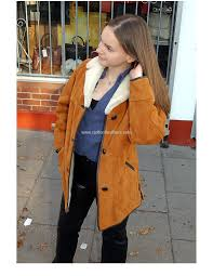 la s traditional sheepskin coat with collar radford leather