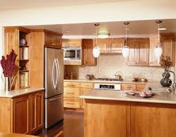 dining room nice brown solid wood kitchen cabinets for small