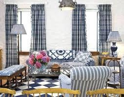 Navy Blue Plaid Curtains Blue Plaid Curtains Teawing Co
