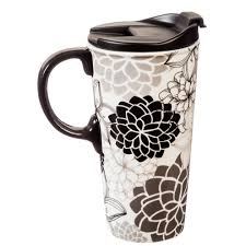 travel coffee mugs images Floral medley coloring book ceramic travel coffee mug 17 ounces jpg