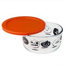 Whose Birthday Is On Halloween Pyrex Simply Store 4 Cup Black Pumpkin Halloween Storage Dish W