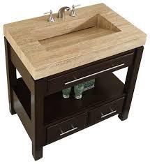 modern single sink vanity silkroad exclusive 36 modern single sink bathroom vanity view with