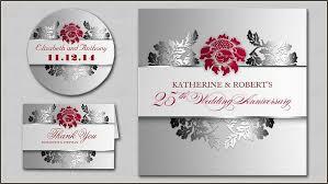 25th wedding anniversary invitations read more 25th wedding anniversary silver invitation wedding