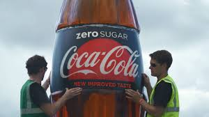 giant drink stunning time lapse video shows giant coca cola zero sugar bottle