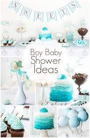 baby showers ideas boys baby shower ideas blue chocolate lollipop ombre ruffles cake