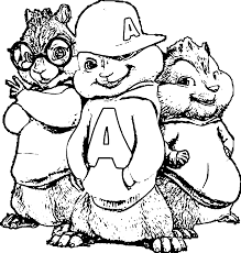chipettes coloring pages cartoon alvin