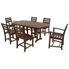 Dining Sets Trex Outdoor Furniture Monterey Bay Sand Castle 7 Piece Patio