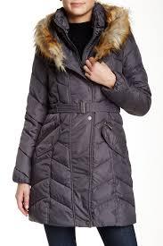 rachel rachel roy faux fur trimmed hoo puffer jacket