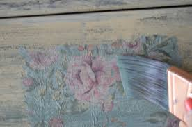 shabby chic cottage dresser with old fashioned milk paint lilac to achieve a tattered edge which is more complementary to a shabby chic appeal i use a small paint brush and dab water along the edges pulling them away