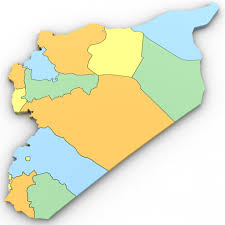 Map Of Syria by Political Map Of Syria 3d Model Cgstudio