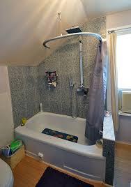Shower Curtain Track Hooks Kvartal Shower Curtain For Dormered Bathroom Ikea Hackers Ikea