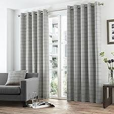 Grey And White Striped Curtains Striped Black Grey Pair Lined Eyelet Ring Top Curtains 66