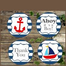 nautical baby shower printable favor tags baby shower decoration