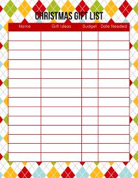 Printable Santa List Templates 2015 Christmas Planner Free Printable Download