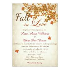 wedding invite fall wedding invitations announcements zazzle