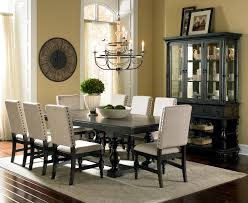 Antique Dining Room Sets by Steve Silver Leona Cottage Rectangular Antique Black Dining Table