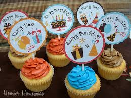 cupcake toppers cupcake toppers free printable hoosier