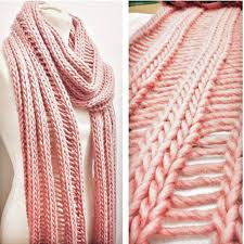 simple drop stitch scarf knitting kit by stitch story