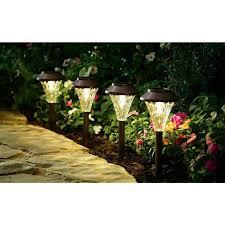 Landscape Lighting Set Better Homes And Gardens Avington 8 Solar Powered Landscape