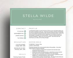 fashion resume templates fashion resume etsy