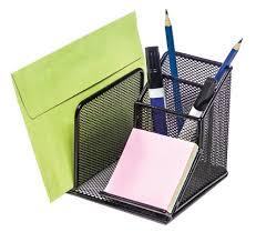 Paper Desk Organizer Brenton Studio Metro Mesh Desk Organizer Black By Office Depot