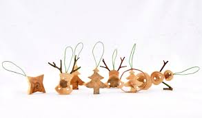 Christmas Decorations Wooden Christmas Decorations Made From Juniper Tree