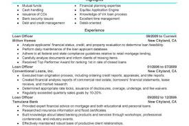 mortgage loan officer resumes examples loan officer resume
