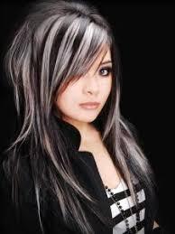 platinum blonde with black lowlights black hair and platinum