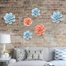 fleurs dans une chambre en trois dimensions en céramique fleurs décoration murale chambre