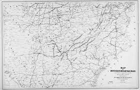 Map Of The United States During The Civil War by Hargrett Library Rare Map Collection Transportation