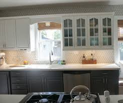 Gray Backsplash Kitchen White Backsplash Cabinets Minimalistic Kitchen Style Of