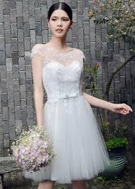 sequined wedding dress chic modern cap sleeves wedding dress tulle sequined