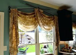 Window Treatments Curtains Window Treatments With Scarves No Sew Scarf Valance How To Hang