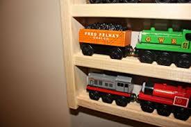 thomas train table amazon amazon com train rack basic thomas train wooden storage display