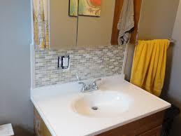 Bathroom Sink Backsplash Ideas Bright And Modern Backsplash For Bathroom Sink Home Design Ideas