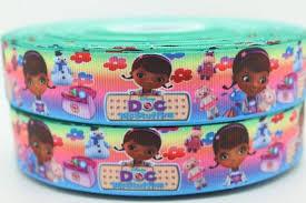 doc mcstuffins ribbon 3 yards pastel doc mcstuffins 1 grosgrain ribbon r124 on etsy