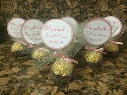 bridal shower ferrero rocher favors gold theme bridal