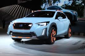 blue subaru crosstrek subaru xv concept hints at next crosstrek due for 2018 model year