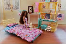 new design doll bed cabinet set dollhouse bedroom furniture diy