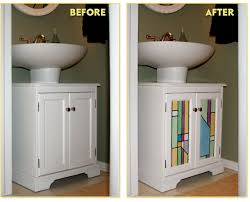 Shelf For Pedestal Sink Small Bathroom Ideas U2013diy Bathroom Cabinet Decorating