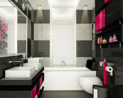 Pink And Black Bathroom Ideas Bathroom Bathroom Black And Pink Decor Best Retro Bathrooms