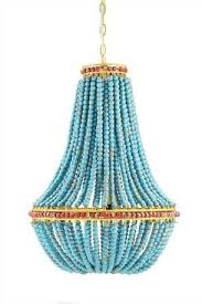 turquoise beaded chandelier turquoise wood beaded chandelier wood bead chandelier beaded
