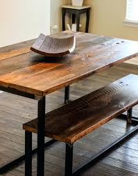 reclaimed wood industrial dining table dining room the most