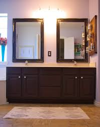 custom double sink vanity with small square lines cabinet and