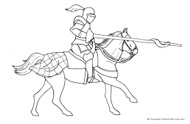 knight horse colouring