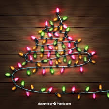 tree made out of lights vector free